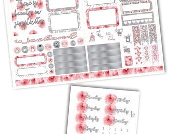 Simplicity Pocket TN Weekly Kit Planner Stickers/Pocket Travelers Notebook Kit Planner Stickers