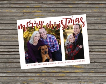 Simple Merry Christmas Photo Card