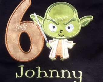Starwars Birthday Shirt with Number and Name*****Please Read Shop Announcement*****