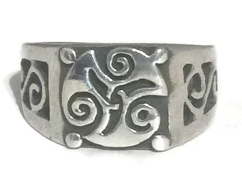 Vintage Celtic Knot Ring Size 6 Plus Celtic Ring Size 6 Celtic Band Size 6 Sterling Silver Ring Irish Ring Size 6 Trinity Ring Boys Ring