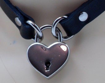 Locking Submissive Collar (lock included) - Free US Shipping