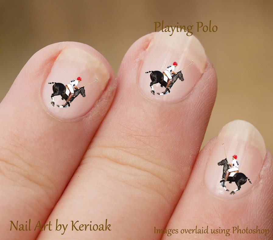 Polo Pony Nail Art Equine Nail Art Stickers fingernail