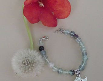 "Zodiac ""Taurus"" fluorite bracelet"