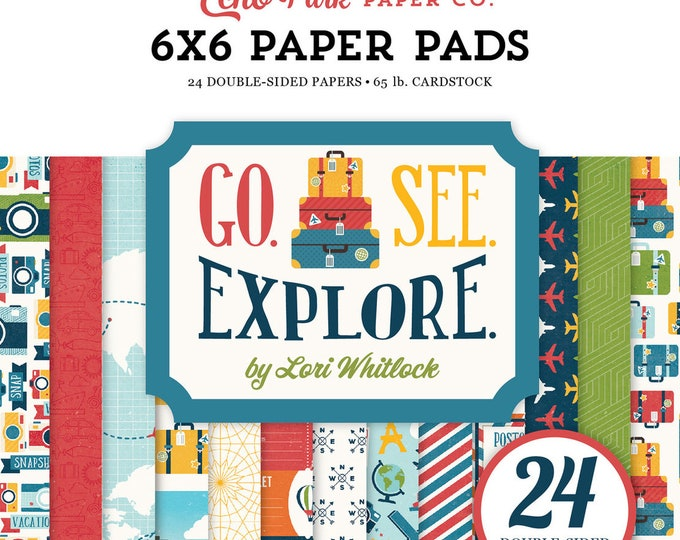 Echo Park Paper GO SEE EXPLORE 6x6 Scrapbook Paper Pad