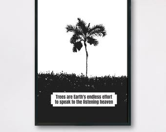 Earth Quote, Nature Quote, Trees Quote, Earth Art Printable, Earth Day Printable, Planet Earth, Earth Wall Decor, Mother Earth Quote Poster