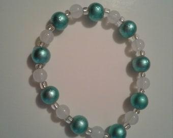 Mint green stretch bracelet