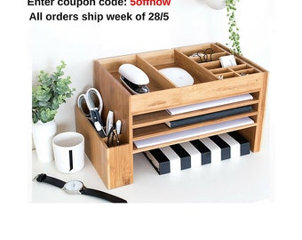 wood desk accessories home office storage desk sets