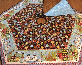 Fun Quilted Christmas Tree Skirt