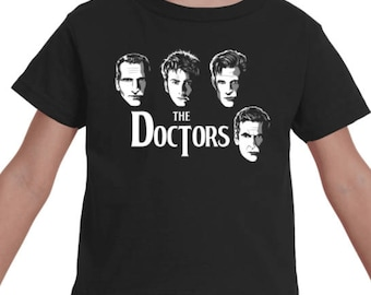 TODDLER TEE -- Doctor Who Time Lord Beatles Parody Cover Baby Top