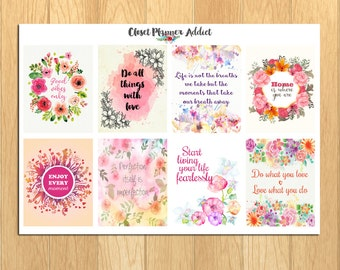 Motivational & Inspirational Quotes Planner Stickers (MS-007)