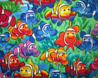 Clownfish Nemo Dory Tropical Fish Cotton Fabric Fat Quarter Or Custom Listing