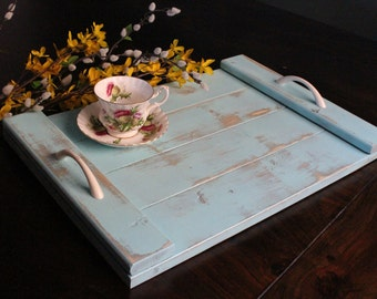 Wood Serving Tray - Rustic Shabby Chic