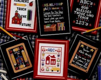 1990s T is for Teachers Cross Stitch Pattern Leaflet Leisure Arts 2412