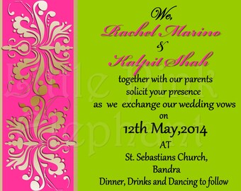 Sangeet invitation etsy indian wedding invitation printable diy bridal shower stopboris Choice Image