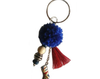 Keychain 'London' tassel bag charm