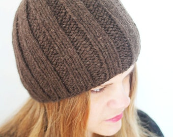 Natural Brown Ribbed Hat - 2201R