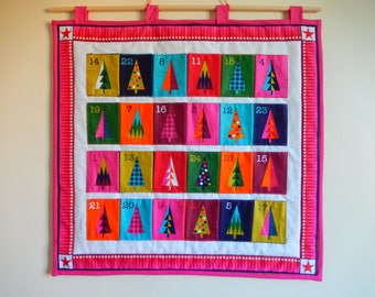 Fabric advent calendar; reusable advent calendar; advent calendar with pockets; heirloom advent calendar
