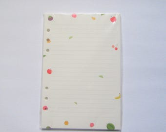 Fruity Print Planner Refill Lined Paper