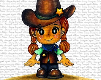 IMAGE #147 - YEE HAw HARRIET-Digital Stamp - Sasayaki Glitter Digital Stamps - Naz Smith - Line Art only - Black and White