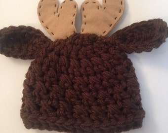 Moose Hat ALL sizes from Newborn  to Adult