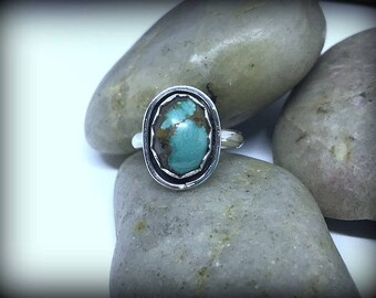 Organic Turquoise Sterling Silver Ring