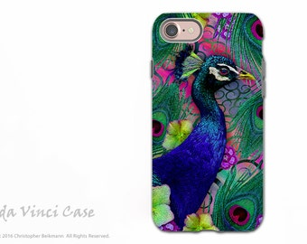 Colorful Peacock iPhone 7 / 8 Tough Case - Floral Dual Layer Protective Case for Apple iPhone 7 and iPhone 8 Nemali Dreams