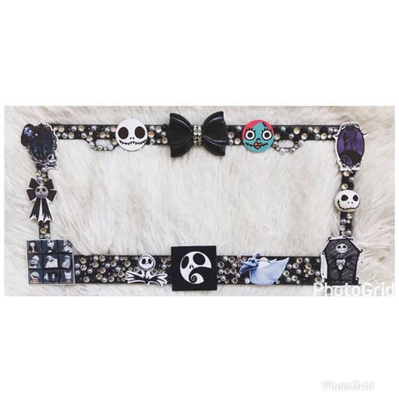 Nightmare before Christmas license plate frame