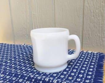 Vintage Anchor Hocking Milkglass Shaving Mug. 1940's,