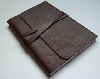 Journal Travel Journal Leather Journal Leather Book Leather Notebook. Chestnut Brown Leather.