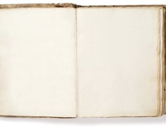 Old Open Book Antique Shabby Blank Pages - Digital Photo Image - Instant Download