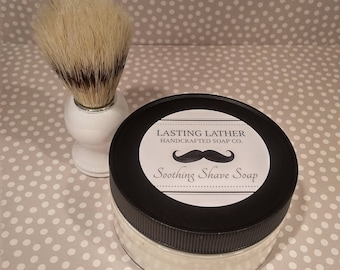 Soothing Shave Soap & Brush