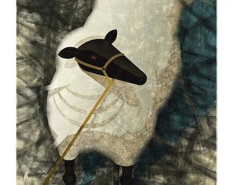 """Sheep 11X14"""" Art Print by Ken Corral"""