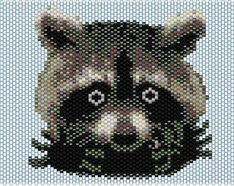 Peyote pattern for Raccoon