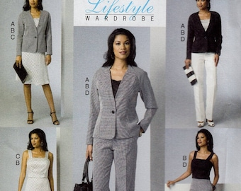 Free Us Ship Sewing Pattern Butterick 6030 Lifestyle Wardrobe Top Pants Jacket Size 6/14 14/22 Bust 30.5 31.5 32.5 34 36 38 40 42 44