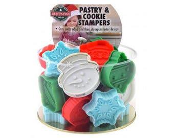 """Christmas Cookie Stampers Cookie Stamper Set Christmas Cookie Cutter Set of 24 2.75"""" RM-6739"""