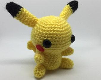 Pikachu Plushie, Pikachu Amigurumi, Pokemon Plushie, Pokemon Amigurumi, Pokemon Gift, Stocking Filler