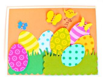 Easter Cards, Easter egg cards, Handmade Easter Card, Happy Easter card, Kids Easter Card, Spring Card, Easter Chicks Card, Easter Card kids