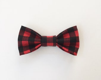 Buffalo Plaid. Buffalo Check // Kids Holiday Bow Tie // Baby's First Christmas // Hipster Lumberjack Bow Tie