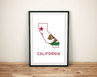 California State Bear Print
