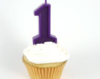 Purple Birthday Number Candle