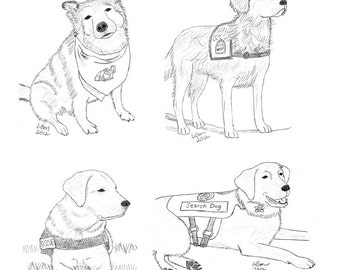 Service Dog Notecards