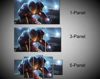 Framed Iron Man Marvel Avengers Age of ultron Super Hero Wall Canvas Art - Ready to Hang