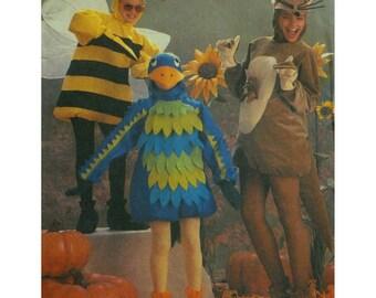 Childs Bird Costume Pattern, Bumblebee, Cat, Tunic, Hoods, Simplicity No. 6671 UNCUT Size 6-8
