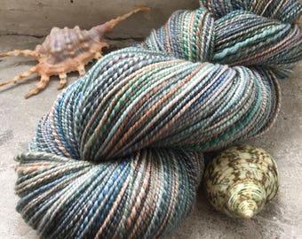 Elements blending - Handspun Handdyed Twoplied Merino Yarn, Sport Weight Yarn, Handmade Yarn,