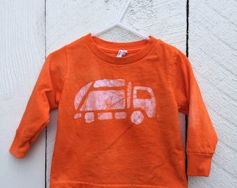 Garbage Truck Shirt, Kids Garbage Truck Shirt, Kids Truck Shirt, Boys Truck Shirt, Girls Truck Shirt, Orange Truck Shirt, (18 months)