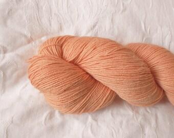 Peach Melba sock yarn