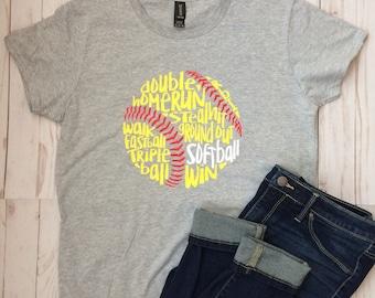 Wordy Softball T-shirt