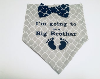 Dog Bandana, Big Brother,  Gender Reveal, I'm going to be a Big Brother,  Pregnancy reveal,  Dog Lovers, Gift, Photo shoot,  Announcement