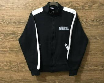 Sale..Rare Nike Sweater/small Print Logo Spell Out/Rare Design, Size on tag Medium.