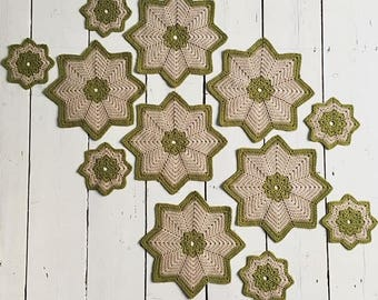 Star placemats and coaster set of 6